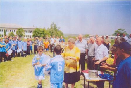 Награждение участников футбольнонго турнира имени П.Я. Штанько